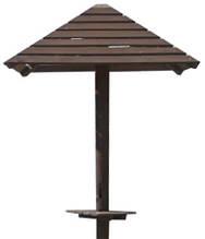 Зонт из дерева со скамьей