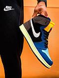 Кроссовки Nike Air Jordan Retro 1 Blue Brown, фото 3