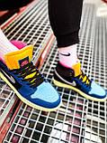Кроссовки Nike Air Jordan Retro 1 Blue Brown, фото 8
