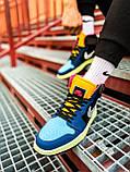 Кроссовки Nike Air Jordan Retro 1 Blue Brown, фото 4