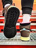 Кроссовки Nike Air Jordan Retro 1 Blue Brown, фото 7
