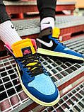 Кроссовки Nike Air Jordan Retro 1 Blue Brown, фото 10
