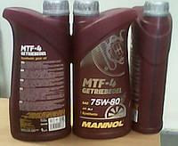 Синтетическое трансмиссионное масло Mannol MTF-4 Getriebeoel API GL-4  1L