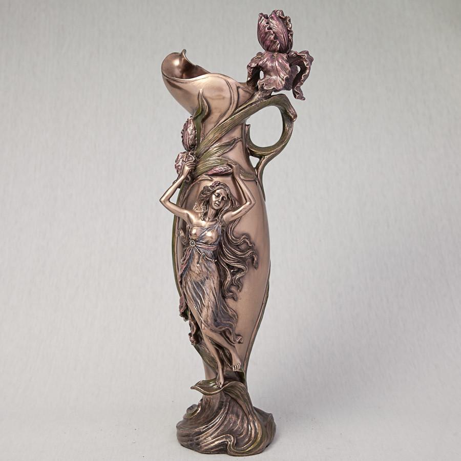 Ваза Veronese Дівчина в орхідеях 39 см 10337