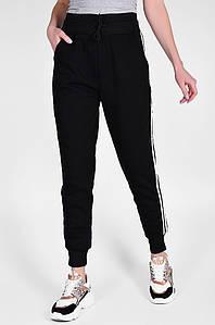 Спортивные штаны на флисе женские черные Sport 126596P