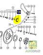 Зірочка Z14 натяжна ланцюга (комплектна) Claas 503937, фото 2