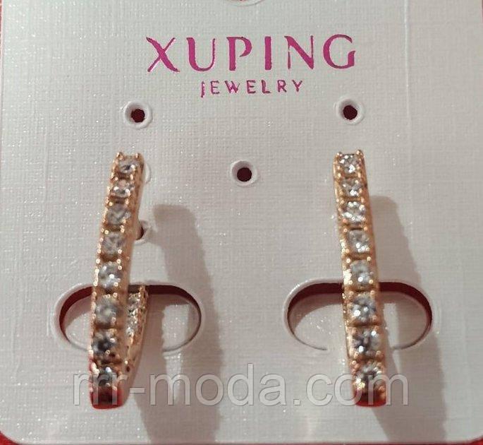 613. Бижутерия Xuping по оптовым ценам Китая - Серьги под золото оптом.