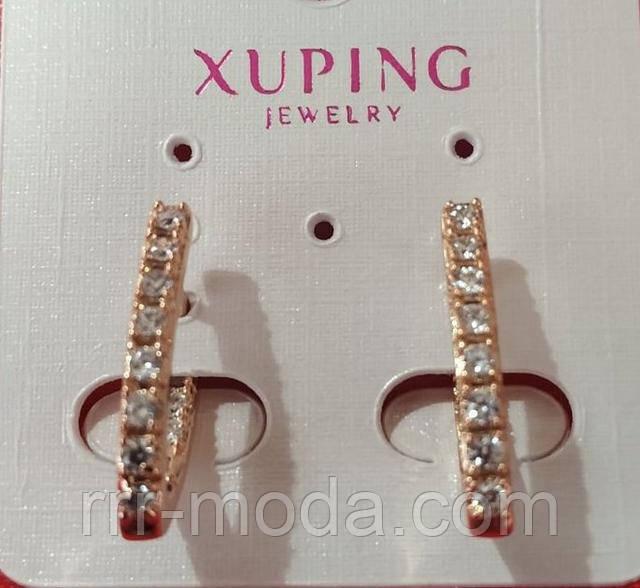 Позолота - Бижутерия позолоченная - позолоченные серьги Xuping оптом.