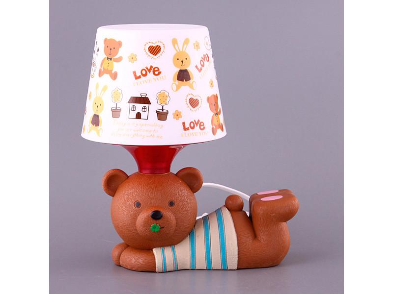 Світильник з абажуром Fashion Lamp Ведмедик 28 см 39-221