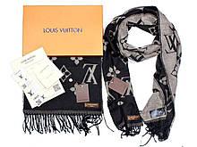 Шарф Louis Vuitton CK1725 чорний