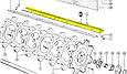 Пара бичів (ПРАВИЙ + ЛІВИЙ) L=1680mm Claas 181743+181744, фото 2
