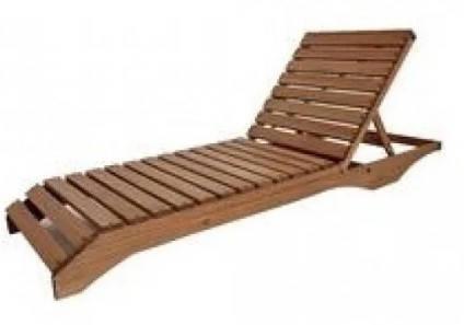 Пляжный лежак из дерева, фото 2