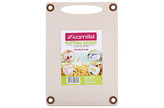Доска разделочная Kamille - 290 x 200 x 8 мм пшеничное волокно (10065), (Оригинал)