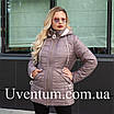 Женская весенняя куртка БАТАЛ  50-60 горчица, фото 7