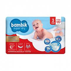 Подгузники Bambik Бамбик №3 (4-9 кг) 45 шт.