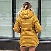 Женская весенняя куртка БАТАЛ  50-60 горчица, фото 3