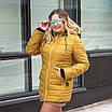 Женская весенняя куртка БАТАЛ  50-60 горчица, фото 2