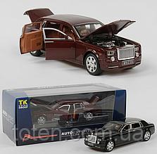 Машина металлическая  Rolls-Royce Phantom   2 цвета, свет, звук, открываются двери EL 2566