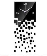Обьемные 3д настенные часы Пиксели черные, фото 1