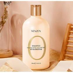 Шампунь для волос питательный VENZEN Coconut Oil To Nourish Hair с кокосовым маслом и витамином Е 500мл