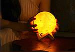 """Импортный увлажнитель воздуха """"Луна"""" 3D moon lamp light, фото 3"""