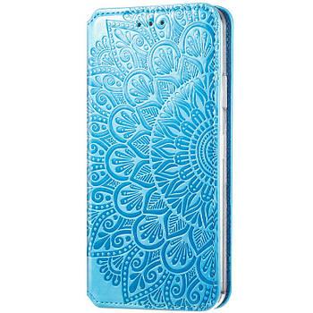 Кожаный чехол книжка GETMAN Mandala (PU) для ZTE Blade A7 Fingerprint Розовый Синий