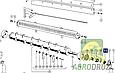 Гайка корончаста M45x1.5mm + шайба з вусиком Claas 500891, фото 3