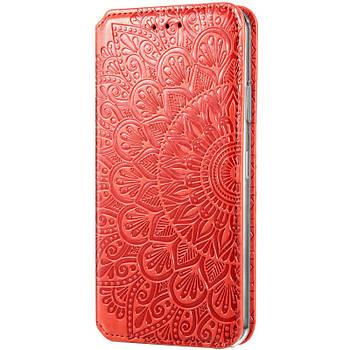 Кожаный чехол книжка GETMAN Mandala (PU) для Huawei P Smart (2021) / Y7a Красный