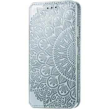 Кожаный чехол книжка GETMAN Mandala (PU) для Huawei P Smart (2021) / Y7a Серый