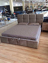 Кровать двуспальная Люкс Техас 2 без матраса с ящиком для белья, фото 2