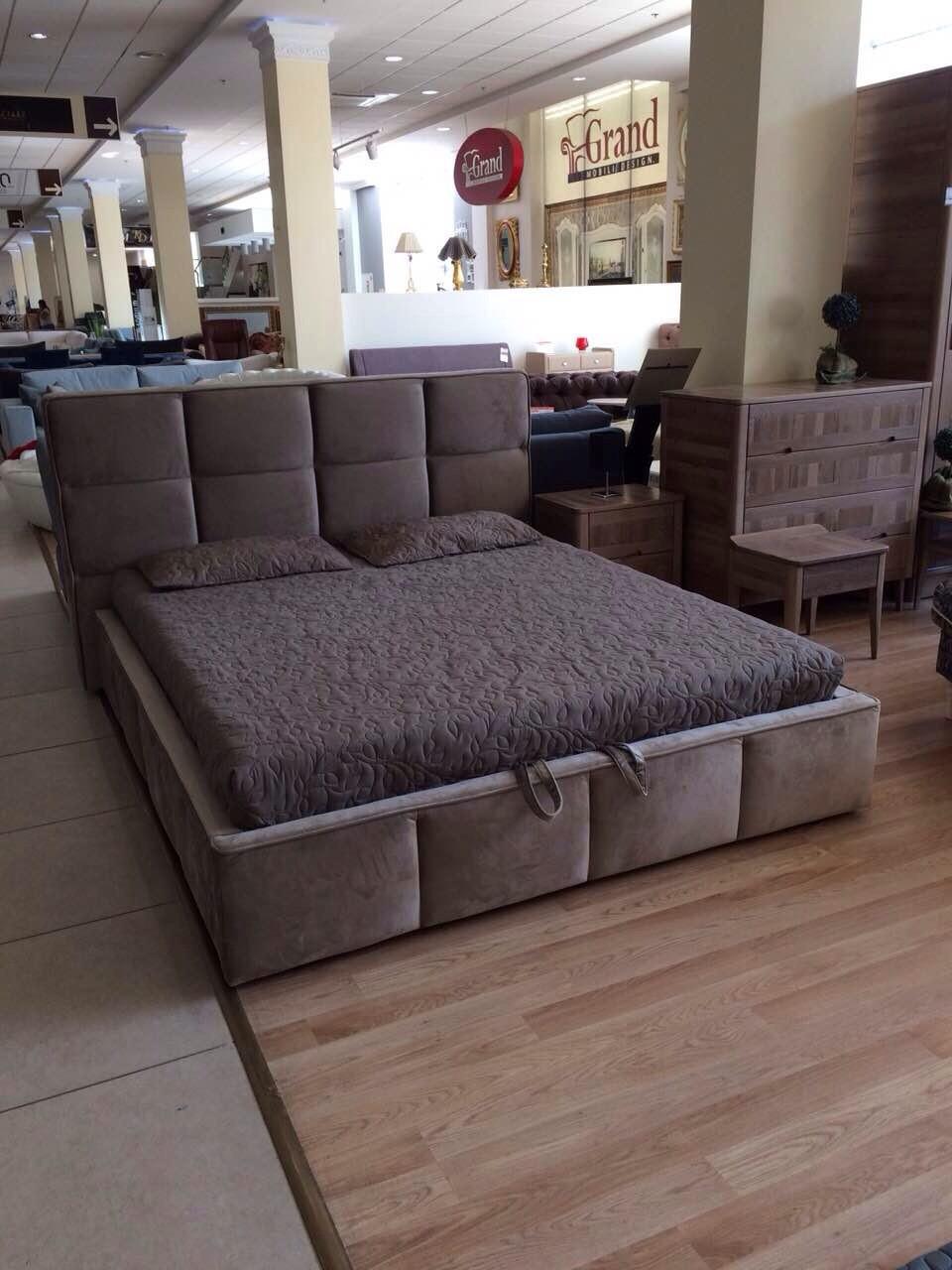 Кровать двуспальная Люкс Техас 2 без матраса с ящиком для белья