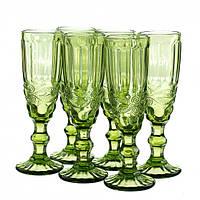 Набор бокалов для шампанского Винтаж Изумруд, фото 1