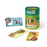 Пазлы игра Зоология для малышей Жизнь в лесу Додо