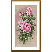 """Набор для вышивки нитками на канве с фоновым изображением """"Королева летнего сада"""""""