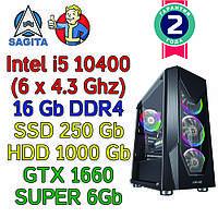 Игровой компьютер intel i5-10400F (6 x 4.3GHz) + 16Gb DDR4 + SSD 240Gb + 1Tb + GTX 1660 Super 6Gb