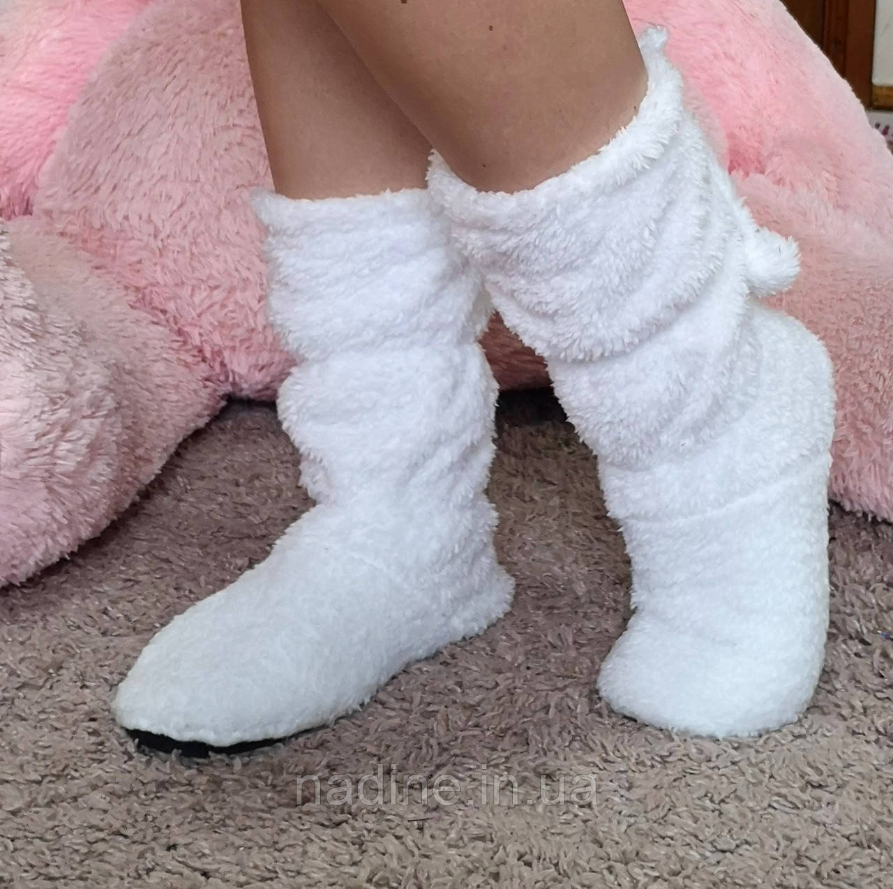 Теплі домашні чобітки Eirena Nadine (white S-573-34) білі 22 см