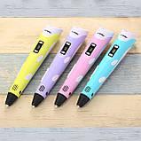 3D ручка MyRiwel Pen 2 з LED дисплеєм | Дитяча 3д ручка для малювання MyRiwel 2, фото 2
