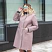 Куртка женская осень-весна  большие размеры  50-60 темная пудра, фото 2