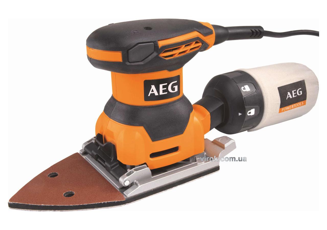 Шліфмашина вібраційна AEG 260 Вт 115-140 мм 1.6 мм (4935416090)