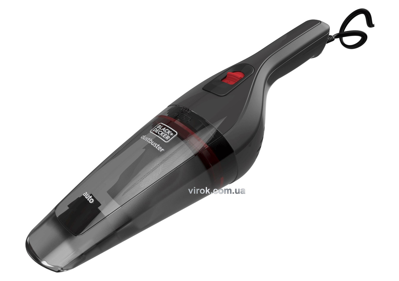 Порохотяг автомобільний Black+Decker 12 В 0.37 л 5 м