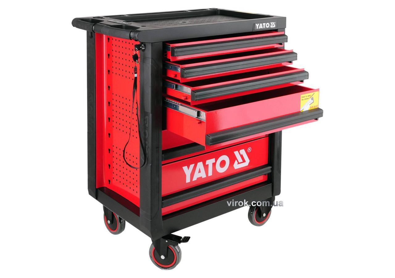 Шафа-візок для інструментів YATO 958 x 766 x 465 мм з 6 шухлядами
