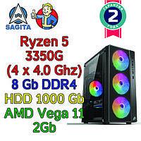 Игровой компьютер / ПК  AMD Ryzen 5 3400G  4 x 4.0GHz / B450 / 8Gb DDR4 / 1000 Gb / Vega 10  / 500W)