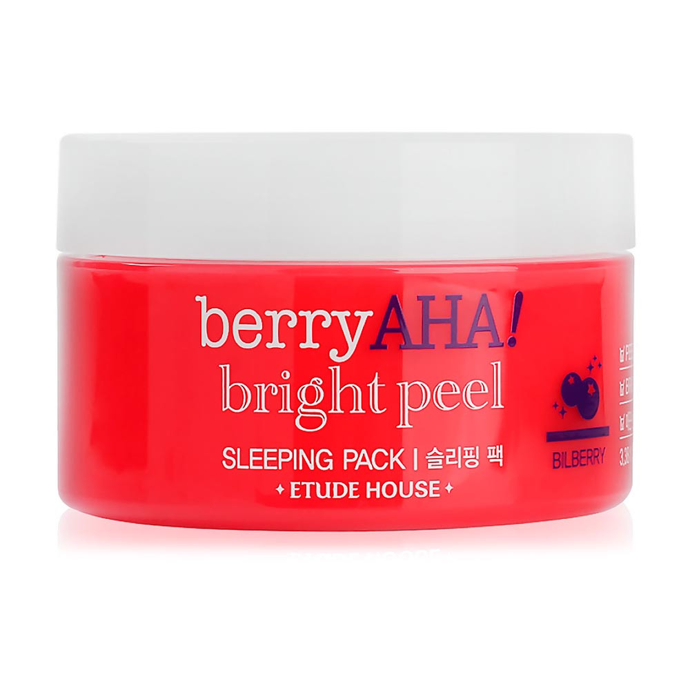 Ночная маска-пилинг для лица с АНА кислотами Etude House Berry AHA Bright Peel Sleeping Pack 100 мл