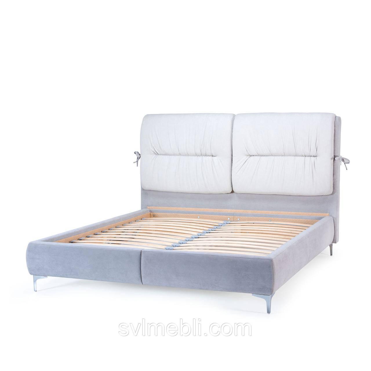 Кровать Долли, велюр серый
