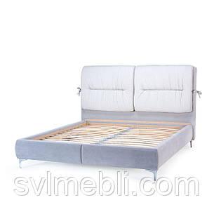 Кровать Долли, велюр серый, фото 2