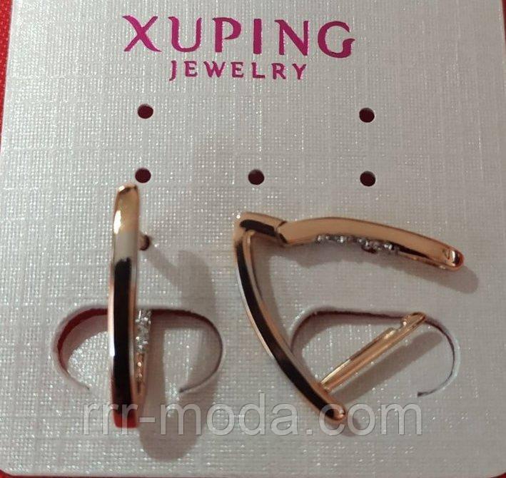 682. Ювелирные серьги бренды, позолоченные украшения оптом. Оптовые цены на серьги Xuping.