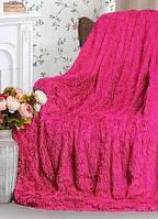 Плед покрывало на кровать меховое Травка Мишка Страус Пушистик размер (евро), в подарок на свадьбу, юбилей