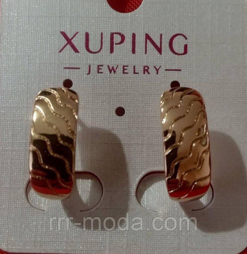 652. Серёжки позолоченные оптом из Китая. Бижутерия и женские украшения.