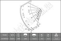 Тормозные накладки задние Mercedes-Benz T2/LN1 809D-814D. K17975.0-F3549/ 65202700A4/ WVA17351/ WVA17975
