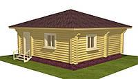 Дом из дикого сруба 7x7